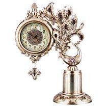 Часы Настольные Кварцевые Павлин Цвет: Бронза 36X18X46 см Диаметр 14 см - Shantou Lisheng