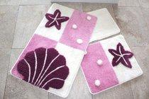 Коврик для ванной DO&CO (60Х100 см/50x60 см) DENIZ YILDIZI, цвет лиловый, 50x60, 60x100 - Meteor Textile