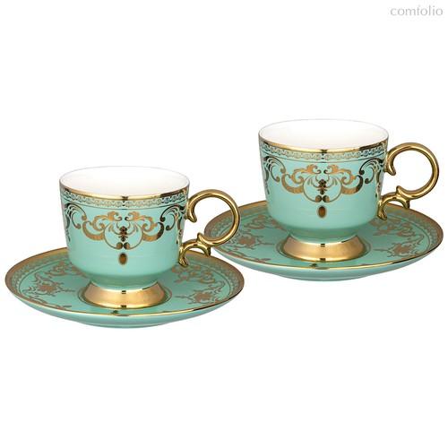 Чайный Набор Lefard На 2 Персоны 4 Пр. 250 мл Голубой - Rongshengyuan