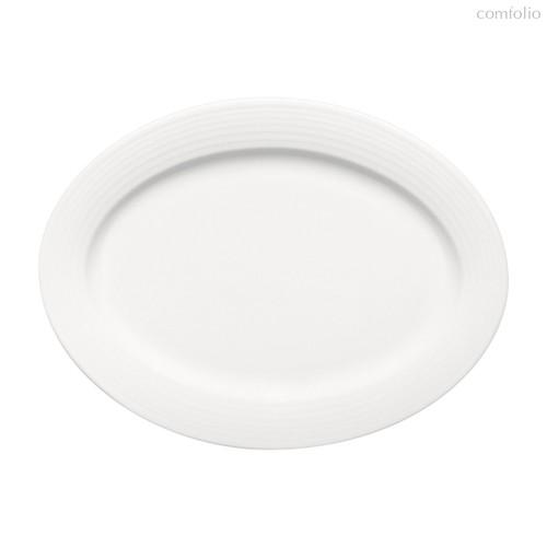 Тарелка овальная 32 см, плоская c бортом, Dialog - Bauscher