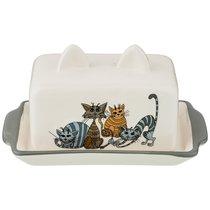 Масленка Озорные Коты 18x11x9 см - Hongda Ceramics