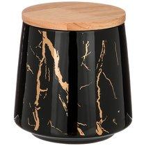 Банка Для Сыпучих Fantasy 550 мл 10,5x10,5 см,Черная - Towin Ceramics