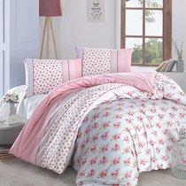 Постельное белье Ranforce Ahsen, цвет розовый, размер Евро - Altinbasak Tekstil