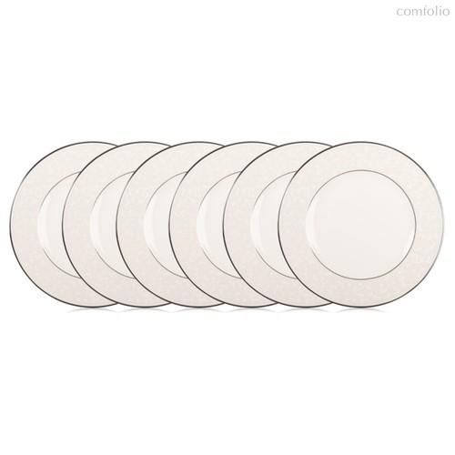 Набор тарелок обеденных Lenox Чистый опал 27см, фарфор, 6шт - Lenox