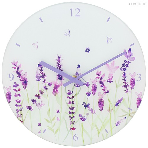 Часы настенные диаметр 30см Лаванда - Lesser & Pavey