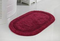 """Коврик для ванной """"MODALIN"""" кружевной RACET 60x100 см 1/1, цвет бордовый - Bilge Tekstil"""
