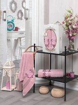 Комп. Пол. TWO DOLPHINS махр. в короб. (50x90/70х140) 2 шт. HURREM, цвет розовый - Meteor Textile