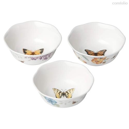 """Набор салатников индивидуальных Lenox """"Бабочки на лугу"""" 240мл, 3шт - Lenox"""