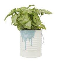Кашпо керамическое для цветов Painty синее 18см, цвет синий - Balvi