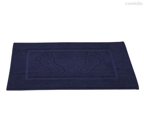 """Коврик махровый """"KARNA"""" GREN (50x70) см 1/1, цвет темно-синий, 50x70 - Bilge Tekstil"""