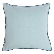 Чехол на подушку из фактурного хлопка голубого цвета с контрастным кантом из коллекции Essential, 45х45 см, 45x45 - Tkano