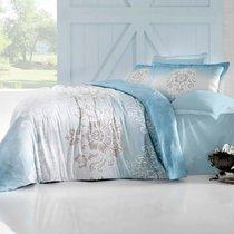 Постельное белье Altinbasak Ilma, сатин, цвет голубой, размер 2-спальный - Altinbasak Tekstil