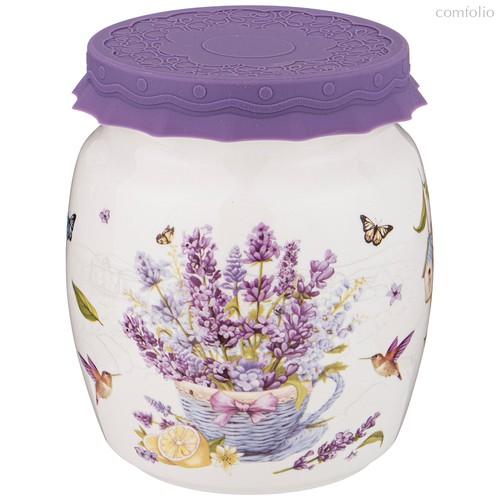 Банка С Силиконовой Крышкой Прованс Лаванда 1000 мл - Shunxiang Porcelain