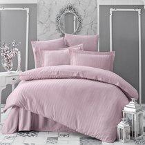 Постельное белье Karna Perla, бамбук, цвет пудра, 2-спальный - Karna (Bilge Tekstil)