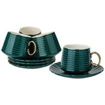 Чайный Набор На 4Пер. 8Пр. 220Мл, Темно-Зеленый - Rongshengyuan