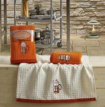"Кухонные полотенца махровые ""KARNA"" LEMON 45x65 1/2 Оранжевый - Bilge Tekstil"