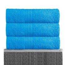Светло-голубой 40х70 Полотенца махровое 1 шт BAYRAMALY, цвет светло-голубой, 40x70 - Bayramaly
