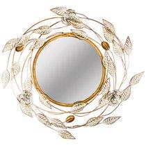 Зеркало Настенное Коллекция Цветочная Симфония 59,7x55,9x4,4 см Диаметр 30 см - FUZHOU SMART HOME DECORATION