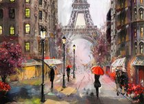 Подставки на пробке Свидание в Париже 40х29 см(4шт) - Top Art Studio