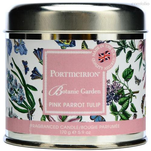 """Свеча в жестяной банке Portmeirion """"Ботанический сад. Тюльпан"""" 7см - Portmeirion"""