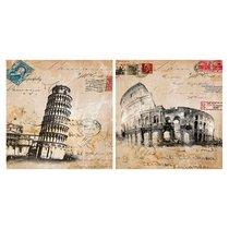 Картина Итальянские каникулы 38х38 см (пара) - Top Art Studio