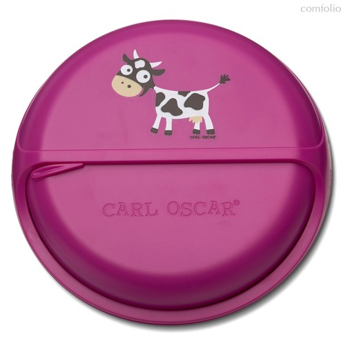 Ланч-бокс для перекусов BentoDISC™ Cow фиолетовый, цвет фиолетовый - Carl Oscar