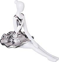 Статуэтка Балерина Серебряная Коллекция 26x13 см Высота 18 см - Hebei Grinding Wheel Factory
