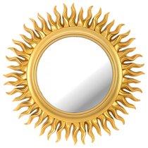 Зеркало Настенное Swiss Home Диаметр 47 см Цвет Золото - Arts & Crafts