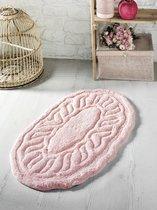 """Коврик для ванной """"MODALIN"""" овальная WENGE 50x80 см 1/1, цвет абрикосовый, 50x80 - Bilge Tekstil"""