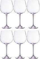 Набор бокалов для вина из 6 шт. ESTA/FULICA 670 мл ВЫСОТА 23 см (КОР 1Набор.) - Crystalite Bohemia