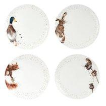 "Набор тарелок обеденных Royal Worcester ""Забавная фауна"" 27см, 4шт, костяной фарфор - Royal Worcester"