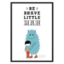 "Монстр ""Be brave..."", 21x30 см - Dom Korleone"