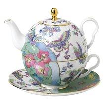 Набор Эгоист Wedgwood Бабочки и цветы (чайник и чашка с блюдцем) 580мл