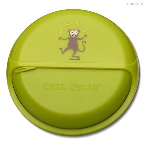 Ланч-бокс для перекусов SnackDISC™ Monkey лайм, цвет лайм - Carl Oscar