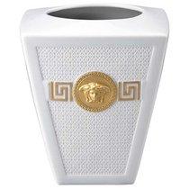 "Ваза 15см ""Символ Версаче"" (белая, золотая Медуза) - Rosenthal"