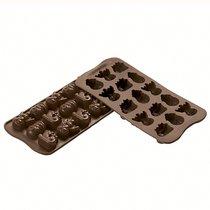 Форма для приготовления конфет Choco Winter силиконовая - Silikomart