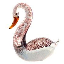 Фигурка Розовый лебедь 18см - Art Glass