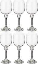 Набор бокалов для вина из 6 шт. ДЖУЛИЯ 230 мл ВЫСОТА 18 см - Crystalex