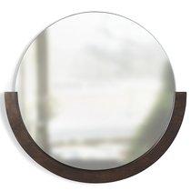 Зеркало настенное Mira D76 см темное дерево - Umbra