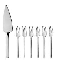 Набор столовых приборов для десерта 7пр, цвет металл - BergHOFF