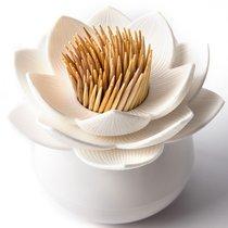 Держатель для зубочисток Lotus белый - Qualy