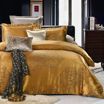 Комплект постельного белья JC-15, цвет желтый, Семейный - Valtery