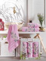 Комп. Пол. JUANNA махр. в короб. (50*90/2)(70*140/1) 3 шт. PAPATYA, цвет розовый - Meteor Textile