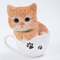 Котенок рыжий в чашке 13*14.5см - Art Atelier