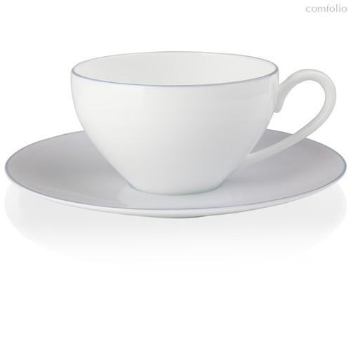 """Чашка чайная с блюдцем 220мл """"Альта"""" (сиреневый борт) - Noritake"""