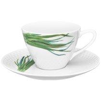 """Чашка чайная с блюдцем 210мл """"Овощной букет"""" """"Зеленый лук"""" - Noritake"""