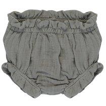 Шорты для новорожденных из хлопкового муслина серого цвета из коллекции Essential 6-9M - Tkano