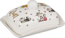 Масленка Веселые Друзья 17x13x9 см - Porcelain Manufacturing Factory