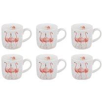 """Набор кружек Royal Worcester """"Забавная фауна"""",""""Розовые фламинго"""" 310мл, 6шт, костяной фарфор - Royal Worcester"""