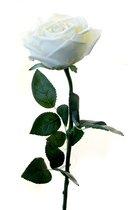 Роза Гран При белая 65 см живое прикосновение (24 шт.в упак.) - Top Art Studio
